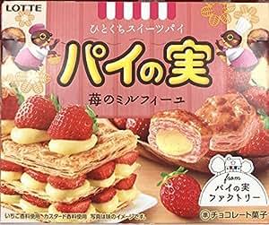 ロッテ パイの実 ひとくちスイーツパイ 苺のミルフィーユ 69g x 10箱