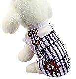 ONG ドッグウェア 犬服 春夏 綿 ベスト サロペット風 ペット Tシャツ お散歩 小型犬 中型犬 ペット服 可愛い
