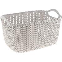 Baosity 織り 収納バスケット/ビン オーガナイザ  実用的  耐久性 多種選べる  - グレー, S