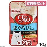 お買得セット いなば CIAO(チャオ) まぐろ ささみ・しらす入り 40g キャットフード CIAO(チャオ)国産 6袋