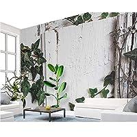 Wuyyii カスタム壁紙北欧ミニマルトロピカル植物亀葉壁画ライムテレビソファの背景壁画3D壁紙-150X120Cm