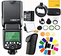 【技適マーク付き&PDF日本語説明書】GODOX Ving V860II-S ストロボ 2.4G GN60 TTL HSS 1/8000s リチウムオン電池カメラフラッシュスピードライト - 1.5Sリサイクルタイム650フルパワーポップ TTL/M/マルチ/ S1/ S2をサポート Sonyソニーデジタル一眼レフカメラに対応 電波法認証取得+GODOX S-R1とGODOX AK-R1で優れた照明を作りましょう