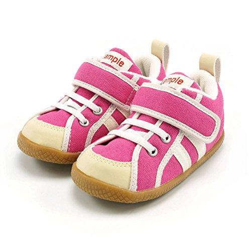 (スタンプル)stample Honki Shoes キッズ キャンバス スニーカー ピンク 14.0cm