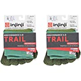 Injinji Unisex Trail Midweight Mini Crew Toesocks Bundle (2 Pack)