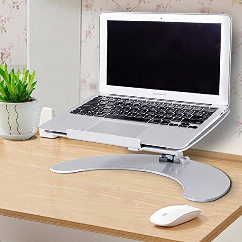 [해외]Costway 노트북 스탠드 태블릿 홀더 노트북 스탠드 각도 &  높이 조절 접이식 실버/Costway Laptop Stand Tablet Holder Laptop Stand Angle &  Height Adjustable Folding Silver
