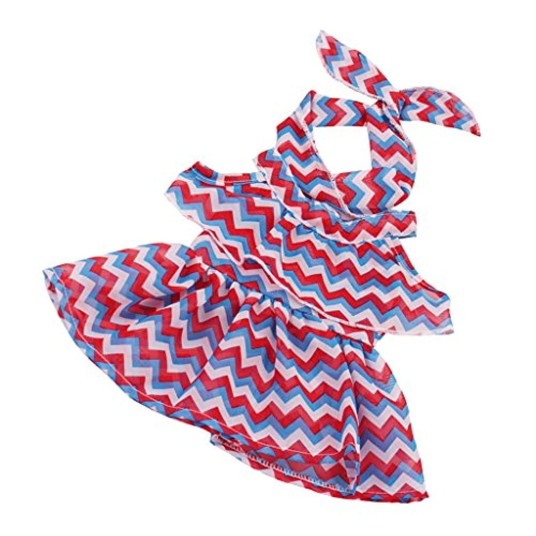 Baoblaze かわいい 全6色 波状ドレス 人形衣装 18インチアメリカガールドール人形のため - カラフル