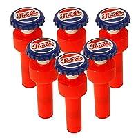 (6-count) - Jokari 18010P6 6 Count Pepsi Heritage Logo Fizz Keeper Soda Bottle Pump Cap, Red/White/Blue