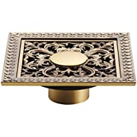 HY ヨーロッパスタイル銅床排水消臭剤シャワー浴室床排水12cm床排水カバー (色 : F f)