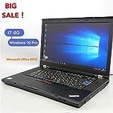 中古美品 15.6w ワイド液晶 レノボ ThinkPad T510 Corei7 M620 4GB 250G DVD-ROM 無線LAN Wi-Fi Win10 MicroSoft Office2010搭載
