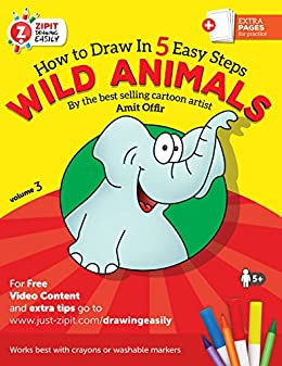 animal book how to draw wild animals drawing book for children and adults