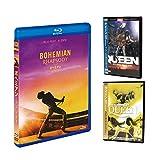 ボヘミアン・ラプソディ (Blu-ray+DVD) & クイーン ライブ・アット・ウェンブリー&モントリオール(輸入盤2DVD) SET