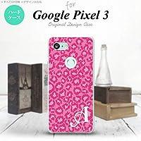 Google Pixel 3 スマホケース カバー ヒョウ柄 ピンク 【対応機種:Google Pixel 3】【アルファベット [J]】
