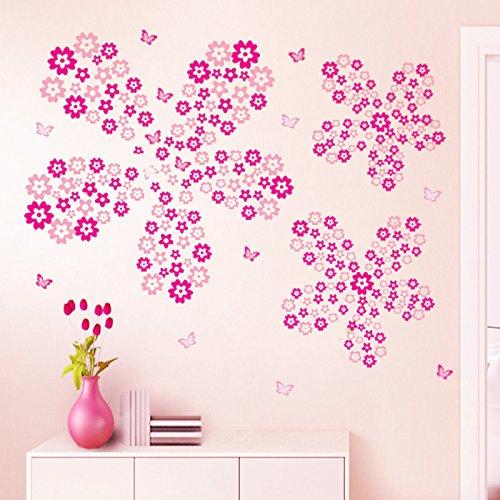 Sunshinebag ウォールステッカー ベッドルーム・リビングルームの背景 防水 壁紙 除去でき 壁飾り Wall Stickers Floret