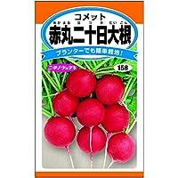 <赤丸二十日大根(コメット)> 可愛い赤丸ラディッシュ。サラダでお手軽