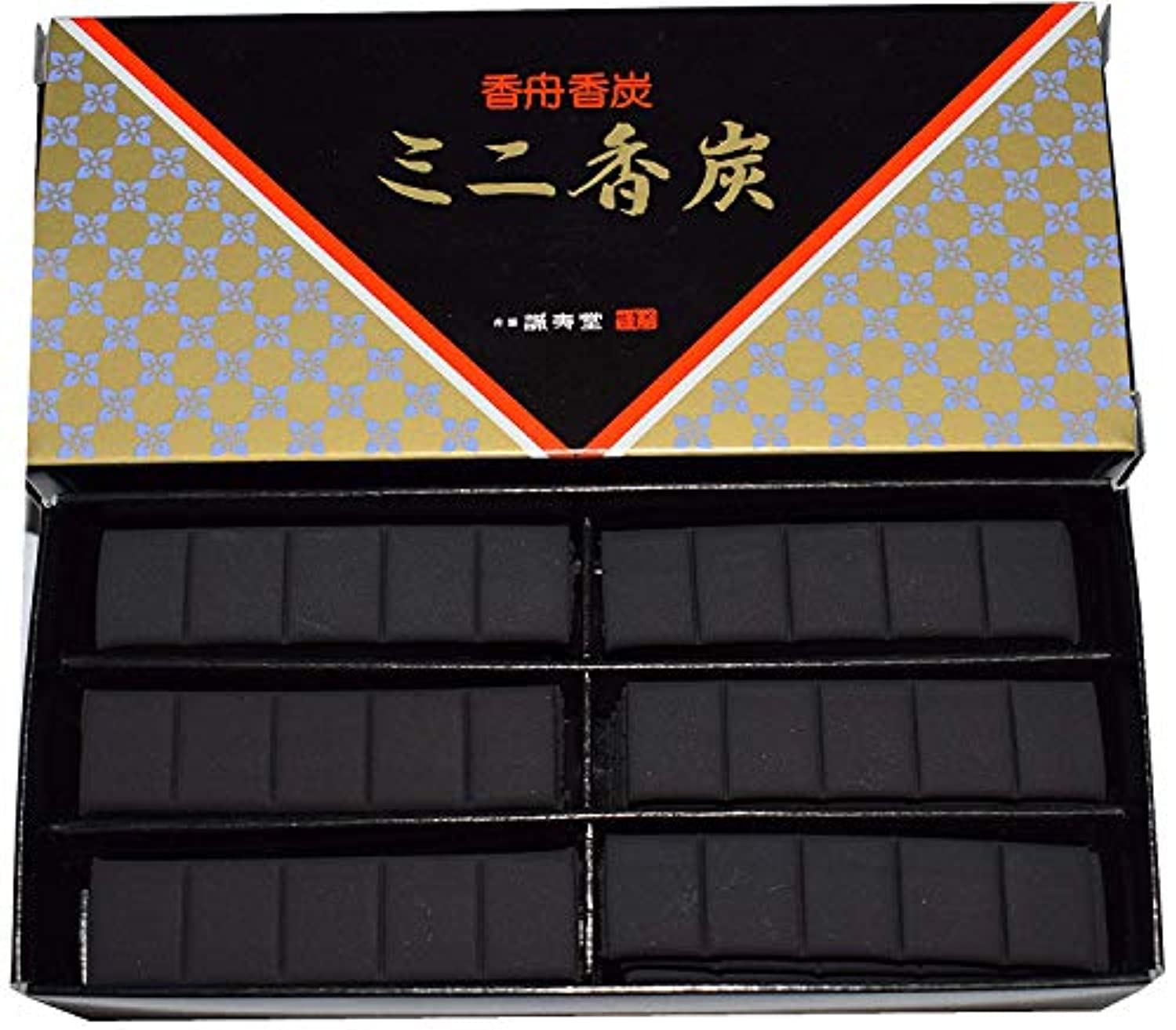 妥協後退する国民投票香舗 誠寿堂ミニ香炉炭 (黒, 5)