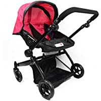 [ニューヨークドールコレクション]The New York Doll Collection Pink Twin Doll Deluxe Babyboo Stroller with Swiveling Wheels and FREE Carriage [並行輸入品]
