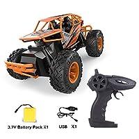 LH-C010 2.4GHz強力パワー合金RCカーオフロードロッククライミングクローラーオートマチックおもちゃ車用子供ギフトInnovationo(色:オレンジ)