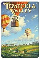 22cm x 30cmヴィンテージハワイアンティンサイン - テメキュラ・バレー・ワイナリー - リバーサイド郡 - サウスコーストAVAブドウ園 - カリフォルニアワインカントリーアート によって作成された カーン・エリクソン