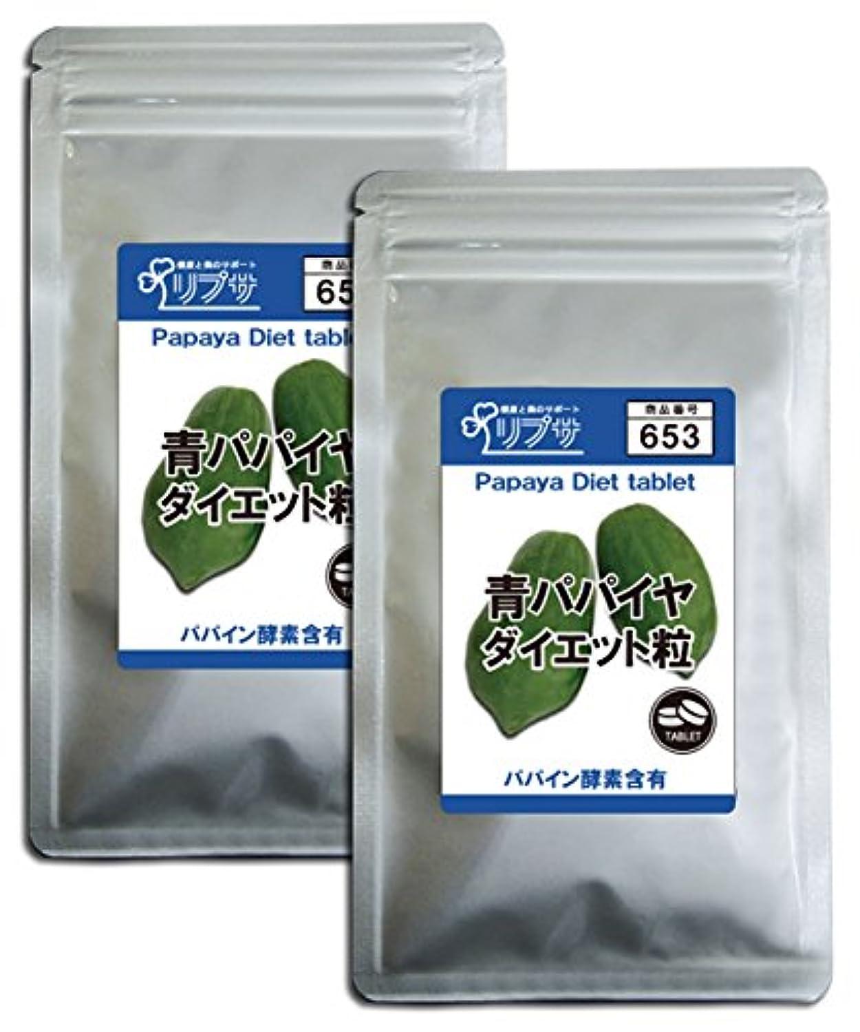 ガイドライン不良品モック青パパイヤダイエット粒 約3か月分×2袋 T-653-2