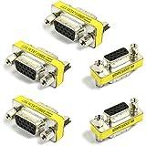 【5個セット】 小型アダプタ D-Sub15ピン(ミニ)メス × D-Sub15ピン(ミニ)メス [VGA端子]