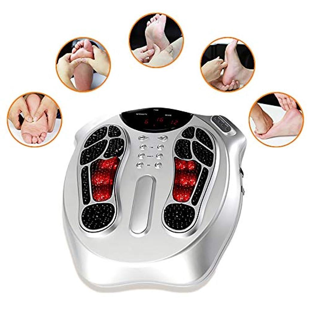 リスナー力インゲン電磁波パルス循環フットマッサージャーフット循環装置+ 4パッド痛む足と脚を和らげ、脚の筋肉を強化