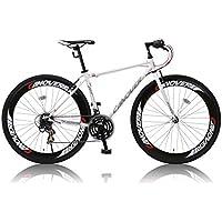 CANOVER(カノーバー) クロスバイク 700C シマノ21段変速 CAC-025 (NYMPH) ディープリム グリップシフト フロントLEDライト付 [メーカー保証1年]