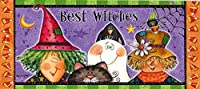 Evergreen Best Witches Decorative Mat Insert, 10 x 22 inches [並行輸入品]