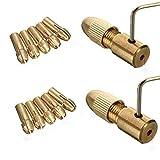 Bestgle 14ピース 小型電気ドリル ビットコレット ドリル チャック セット アレン レンチ付き 0.5-3.0mm