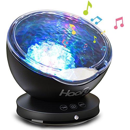 海洋ライト,Haofy 投影ランプ 海洋プロジェクター ライト インテリアライト ホーム飾りライト USB式充電 12LEDライト 7色点灯モード 音楽鑑賞 回転可能 オーディオ機能付き