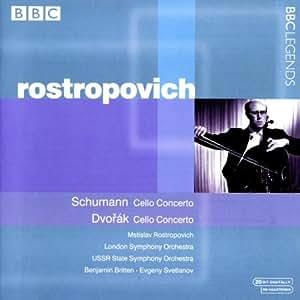 シューマン:チェロ協奏曲/ドヴォルザーク:チェロ協奏曲(ロストロポーヴィチ/ブリテン/スヴェトラーノフ)(1961, 1968)