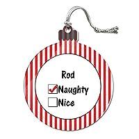 ロッド is いたずらなアクリルクリスマスオーナメント