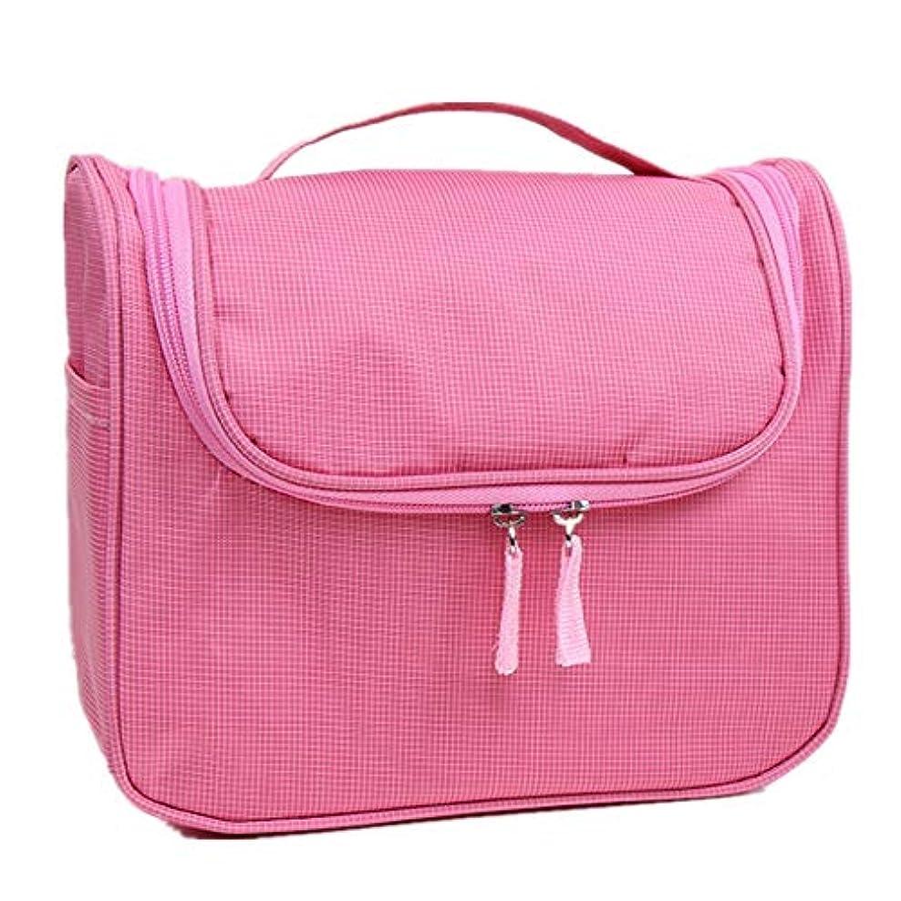 はず投資する非常に特大スペース収納ビューティーボックス 携帯用化粧の電車の箱美のためのそして女の子のための女性旅行および錠および折る皿が付いているアルミニウムフレームが付いている毎日の貯蔵 化粧品化粧台 (色 : ピンク)