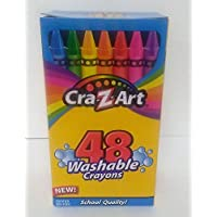 Cra-Z-Art 48 Washable Crayons Brightert Colors School Quality by Cra-Z-Art