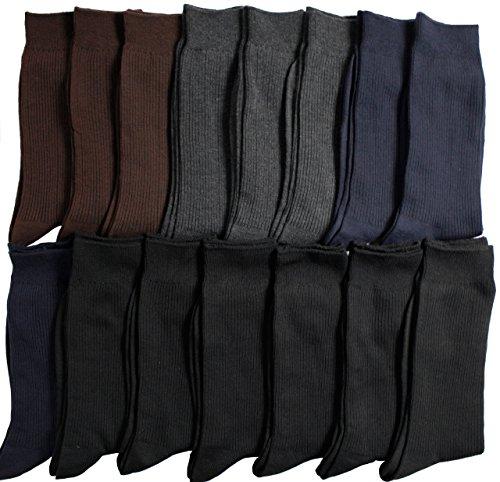靴下 メンズ ビジネス リブ ソックス 15足セット