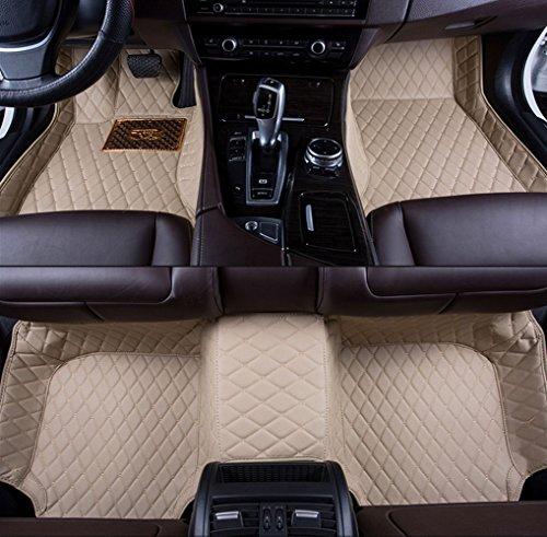 Pegasuss(ペガサス)【ボルボXC60/VOLVO XC60】専用フロアマットカーマット高級レザー素材前席と後席フロアマット防水右手ドライブ車のフロアマット-ベージュ