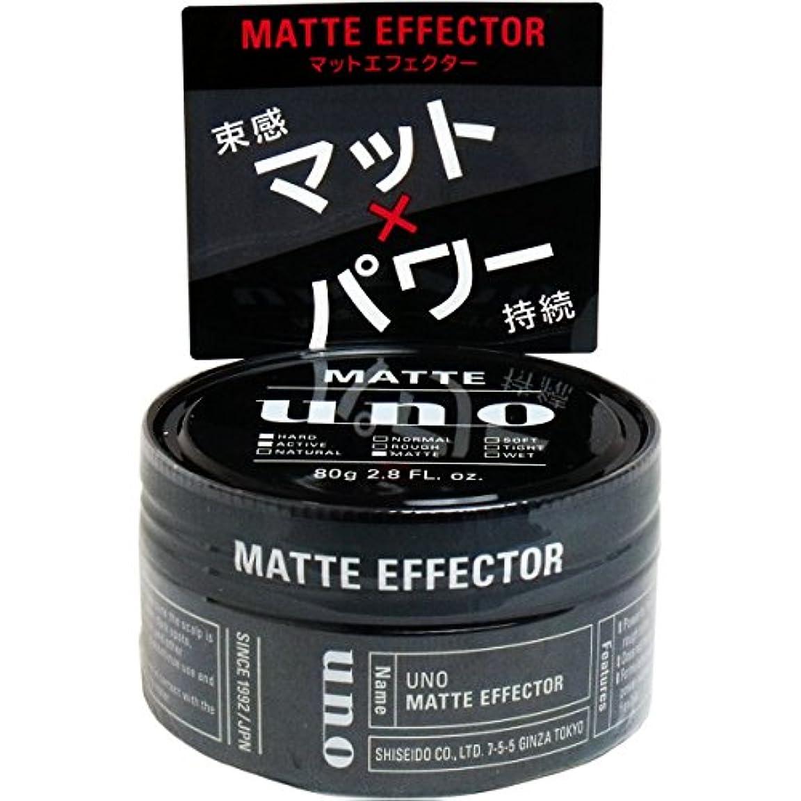 ガード有効薬剤師ウーノ マットエフェクター 80g ワックス×3