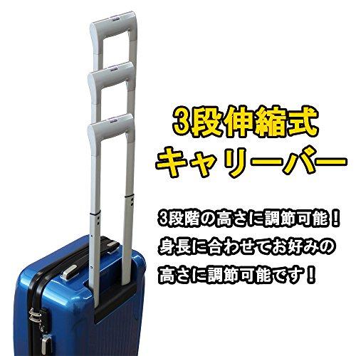 (グラディス・トラベル)GladysTravel スーツケース ABS+PC 4輪Wキャスター Mサイズ 8420-18 ワンレッド