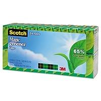 スコッチマジック環境に優しいテープ、3/ 4インチx 900インチ、1インチコア、24ロール/パック