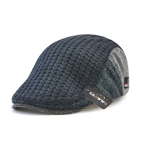 LAOWWO ハンチング帽 キャスケット ニット帽 調節可能 メンズ レディース オシャレ カジュアル ギフト 男女兼用 (4色)