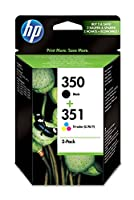 HP Original 350/351 Combo-Pack Inkjet Print Cartridges (Black/Tri-colour)