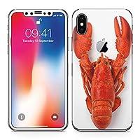 iPhonex アイフォン x 全面スキンシール フル 背面 側面 正面 液晶 ステッカー スマホカバー ケース 保護シール スマホ スマートフォン アニマル ザリガニ 生き物 006638