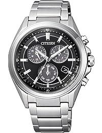 [シチズン]CITIZEN 腕時計 ATTESA アテッサ Eco-Drive エコ・ドライブ メタルフェイス 多機能 クロノグラフ BL5530-57E メンズ