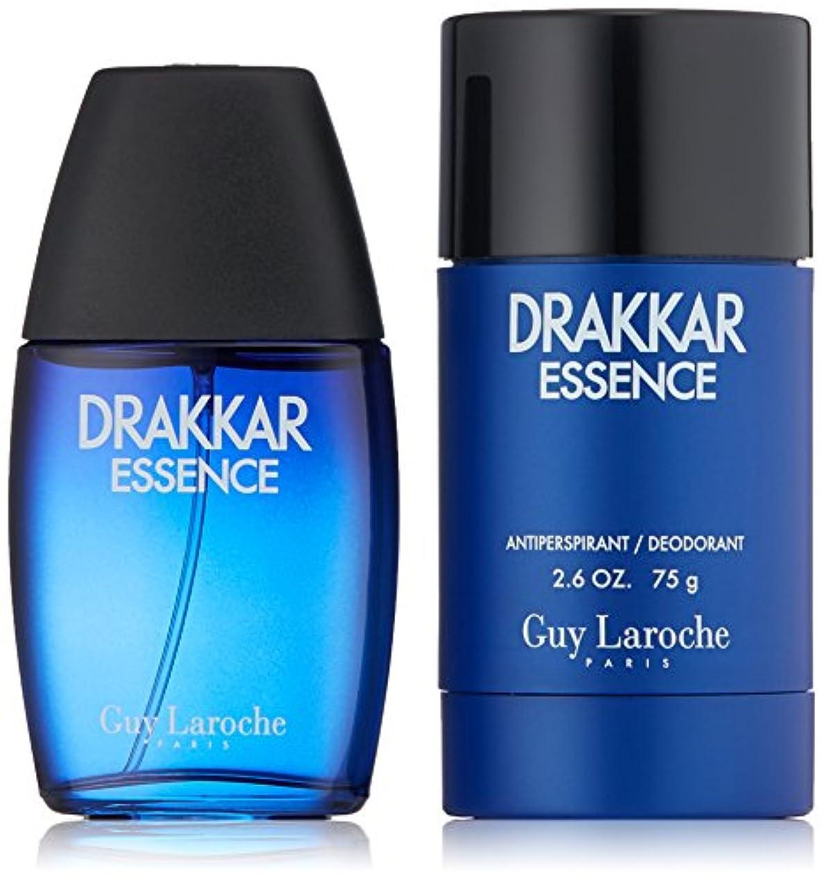 読み書きのできない乞食ずんぐりしたギラロッシュ Drakkar Essence Coffret: Eau De Toilette Spray 30ml/1oz + Antiperspirant Deodorant Stick 75g/2.6oz 2pcs並行輸入品