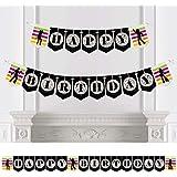 Big Dot of Happiness 70年代ディスコ - 1970年代ディスコフィーバー バースデーパーティー バンティングバナー - 誕生日パーティーデコレーション - ハッピーバースデー