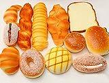 食品サンプル パン 12個 セット スクイーズ カフェ ディスプレイ パン 食パン クロワッサン メロンパン 【aereo di carta】