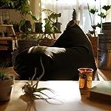 NYブルックリン風ビーズクッション Rg デニム調 [カーキ(撥水加工)] ソファ 座椅子 日本製