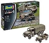 ドイツレベル 1/35 アメリカ陸軍 M34トラック&オフロード車 プラモデル 03260