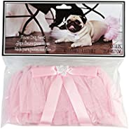Lillian Rose Adjustable 10-18 Inch Pink Flower Dog Skirt