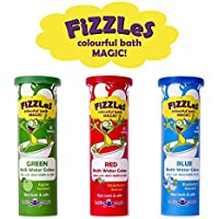 Bath Magic FiZZLeS Colorful Bath Bomb Tablets for Kids Non Toxic and Safe Ingredients Irritant Free 30 Tablets Red Blue and Green. Also available in a 5 pack. [並行輸入品]