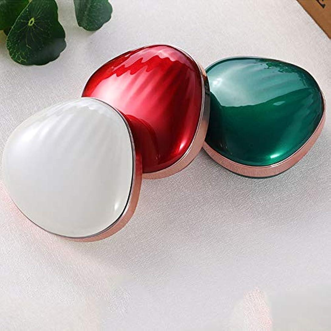 ドルシットコム宝石流行の 新しいクリエイティブLEDソフトアイメイクミラー多機能塗りつぶし充電宝メイクアップミラー美容ミラーABSアルミ3レッドブルーホワイト (色 : Green)